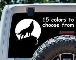 Wolf Car Decal Etsy
