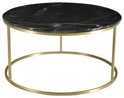 zoe black marble coffee table