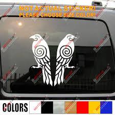 Huginn And Muninn Twin Ravens Decal Sticker Car Vinyl Norse Odin Pick Size C Car Stickers Aliexpress