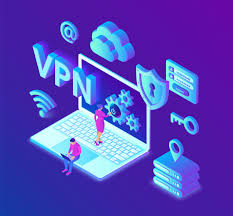 Premium Vector | Vpn. virtual private network. secure vpn connection .  cyber security and privacy.