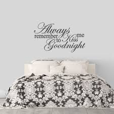 Kiss Me Goodnight Wall Decal Love Wall Quotes Sweetums Signatures