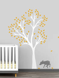 Amazon Com Fawn Tree Wall Decal For Baby Nursery Decor Enchanted And Dreamy Forest Theme Handmade