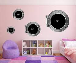 Children S Bedroom 3d Decor Decals Stickers Vinyl Art Port Scape Earth In Technicolor Space 3d Window Wall Sticker Decal Removable Home Garden Vibranthns Lk