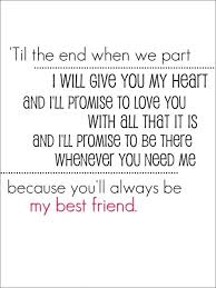best friend song quotes friendship quotes from songs friends