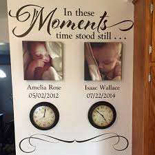 In These Moments Time Stood Still Vinyl Wall Decal Sticker Art Lettering