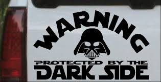 Darth Vader Dark Side Car Or Truck Window Decal Sticker Or Wall Art Decalsrock