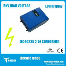 Lcd Smart Pulse Security Electric Fence Energizer System 5kv High Voltage Fence With Alarm Functi Global Sources