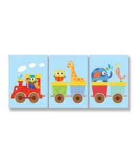 The Kids Room By Stupell Whimsical Animal Train Wall Art Set Zulily