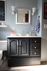 bathroom vanity makeover with chalk
