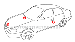 hyundai paint code locations touch up