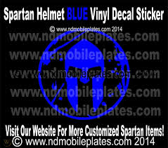 Spartan Helmet Red Green Blue Tri Color White Banner Vinyl Race Car Decal 1730698512