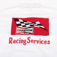 Lot - 1950''s Duane Carter Champion Sparkplug Racing Series Shirt