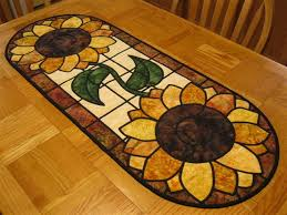 sunflower stained glass quilt