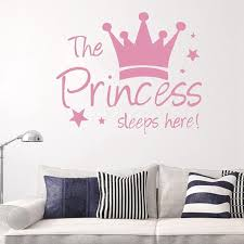 Fashion The Princess Sleep Here Wall Stickers Art Decal For Girl Room Decal Kids Bedroom Sticker Mario Wall Stickers Mirror Wall Decals From Moggoo 35 46 Dhgate Com