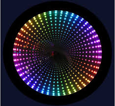 rgb color infinity mirror led illusion