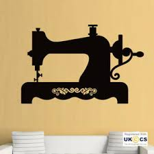 Wall Stickers Sewing Machine Embroidery Hobby Living Hall Art Decal Vinyl Room Ebay