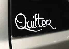Quilter Vinyl Decal Sticker Sentimental Stitches