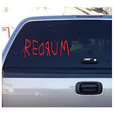Amazon Com Redrum The Shining Halloween Horror Red Vinyl Decal Bumper Computer Sticker 3 X 6 Scary Halloween Arts Crafts Sewing