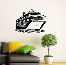 Amazon Com Adecalsnew Cruise Ship Wall Decal Vinyl Sticker Cruise Liner Sea Ocean Home Interior Window Sticker Wall Decor 6c01s Home Kitchen