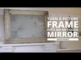 diy antiqued mirror you