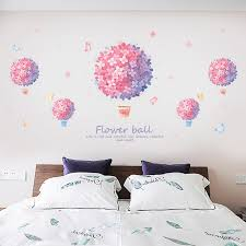 Self Adhesive Wall Stickers Girl Warm Bedroom Bedside Wall Stickers Creative Personality Decorative Flower Stickers Background Wall Sticker