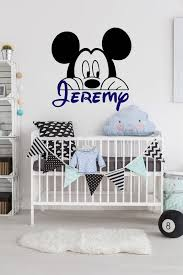 Personalized Name Wall Decal Mickey Mouse Wall Decal Etsy In 2020 Mickey Mouse Wall Decals Mickey Mouse Room Decor Mickey Mouse Wall