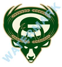 Green Bay Packers Milwaukee Bucks Mash Up Vinyl Decal Sticker 10 Siz Sportz For Less