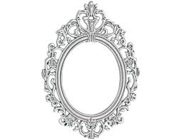 white fancy mirror decoration snow