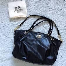 coach bags black leather purse poshmark