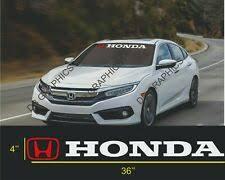 Honda Windshield Window Banner Decal Vinyl Sticker Race Honda Civic Accord Sol For Sale Online Ebay