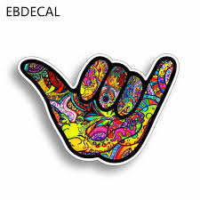 Ebdecal Shaka Hang Loose Graffiti For Auto Car Bumper Window Wall Decal Sticker Decals Diy Decor Ct6314 Car Stickers Aliexpress