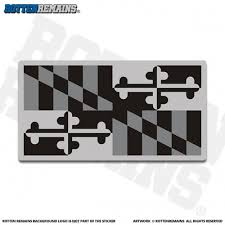 Maryland Sticker Decal Vinyl State Subdued Gray Black Flag Md V3 In 2020 Maryland Sticker Black Flag Sticker Design