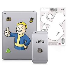 Amazon Com Fallout 6 Pack Vault Boy Tech Decals Waterproof Stickers For Phone Laptop Water Bottle Skateboard Vinyl Stickers For Boys And Girls Video Games