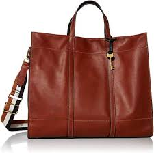 fossil women s carmen leather tote