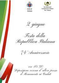 2 Giugno - Festa della Repubblica Italiana - Comune di Caiazzo
