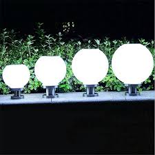 2020 Round Solar Lamps Led Ball Shape Pillar Light White Acrylic Globe Outdoor Waterproof Post Light Fence Lighting Landscape Courtyard Garden From Led1988 32 37 Dhgate Com