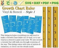 Growth Chart Ruler Stencil Diy Vinyl Growth Chart Ruler Svg Etsy