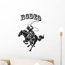Rodeo Cowboy Silhouette Wall Decal Wallmonkeys Com