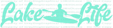 Lake Life Kayak Vinyl Decal With Fish Sticker By Lilbitolove On Zibbet