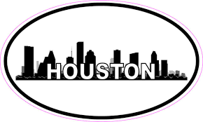 5in X 3in Oval Houston Skyline Sticker Luggage Decal Car Travel Stickers Walmart Com Walmart Com