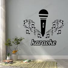 Self Adhesive Wall Vinyl Decal Music Karaoke Microphone Notes Cool Music Note Partterns Wall Sticker Music Wallpaper Mural Rb589 Wall Stickers Aliexpress