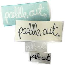 Paddle Out Die Cut Decal