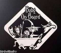 Baby On Board Nightmare Before Christmas Car Body Window Vinyl Decal Christmas Baby Shower Goth Baby Nightmare Before Christmas