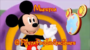 Invitaciones Animadas Personalizadas Mickey Mouse Disney