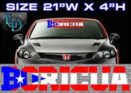 1 Puerto Rican Puerto Rico Flag Racing Car Decal Sticker Boricua 1921 Pr Ebay