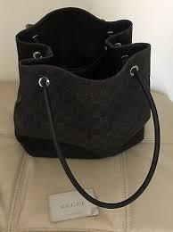 monogram canvas leather shoulder bag