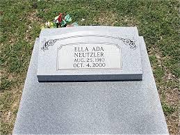 Ella Ada Meyer Neutzler (1910-2000) - Find A Grave Memorial