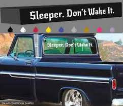 Sleeper Don T Wake It Windshield Window Decal Fast Car Truck Turbo Nos Hp 40 Ebay