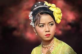 myanmar burma people woman portrait