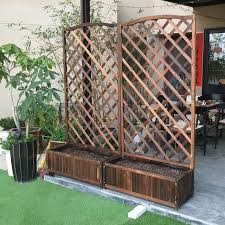 Climbing Flower Pot Wooden Fence Fence Flower Boxes Wood Preservative Outdoor Balcony Climbing Frame Mesh Partition